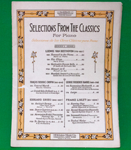 Vintage Piano Sheet Music, Selections From The Classics, McKinley Music - $3.95