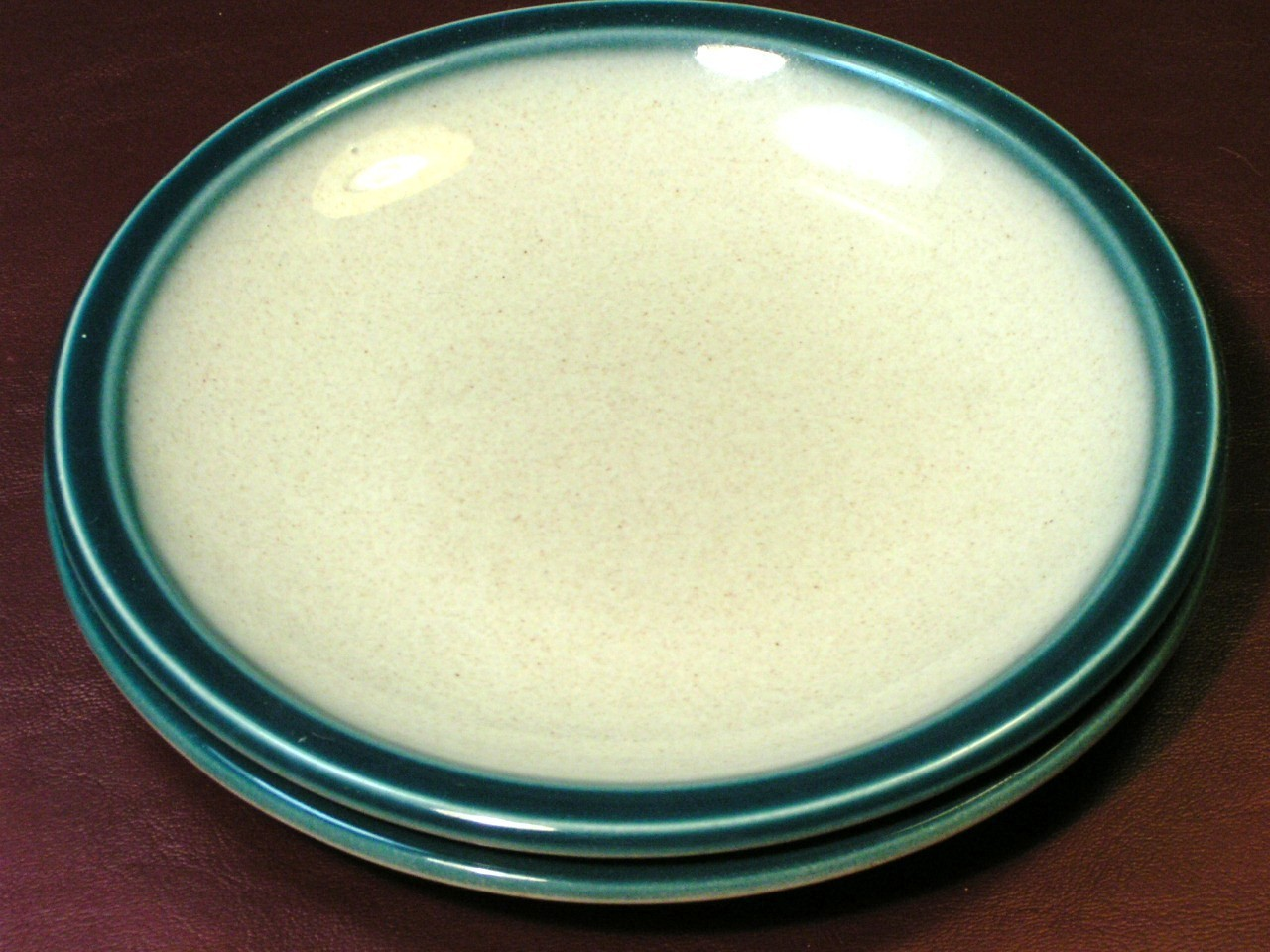 Blue Pacific by Wedgwood LOT 2 BREAD BUTTER PLATES rare image 2