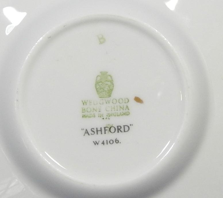 Ashford Grey by Wedgwood Bone China LOT of 3 DEMITASSE CUPS + SAUCERS W4106 G67