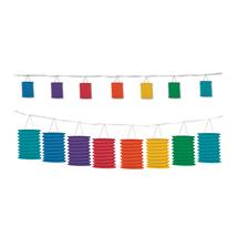Beistle Rainbow Lantern Garland 12'- Pack of 6 - $54.72