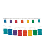 Beistle Rainbow Lantern Garland 12'- Pack of 6 - $56.54