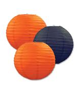 "Beistle Paper Lanterns Orange & Black 9.5"" (3 Count)- Pack of 6 - $47.68"