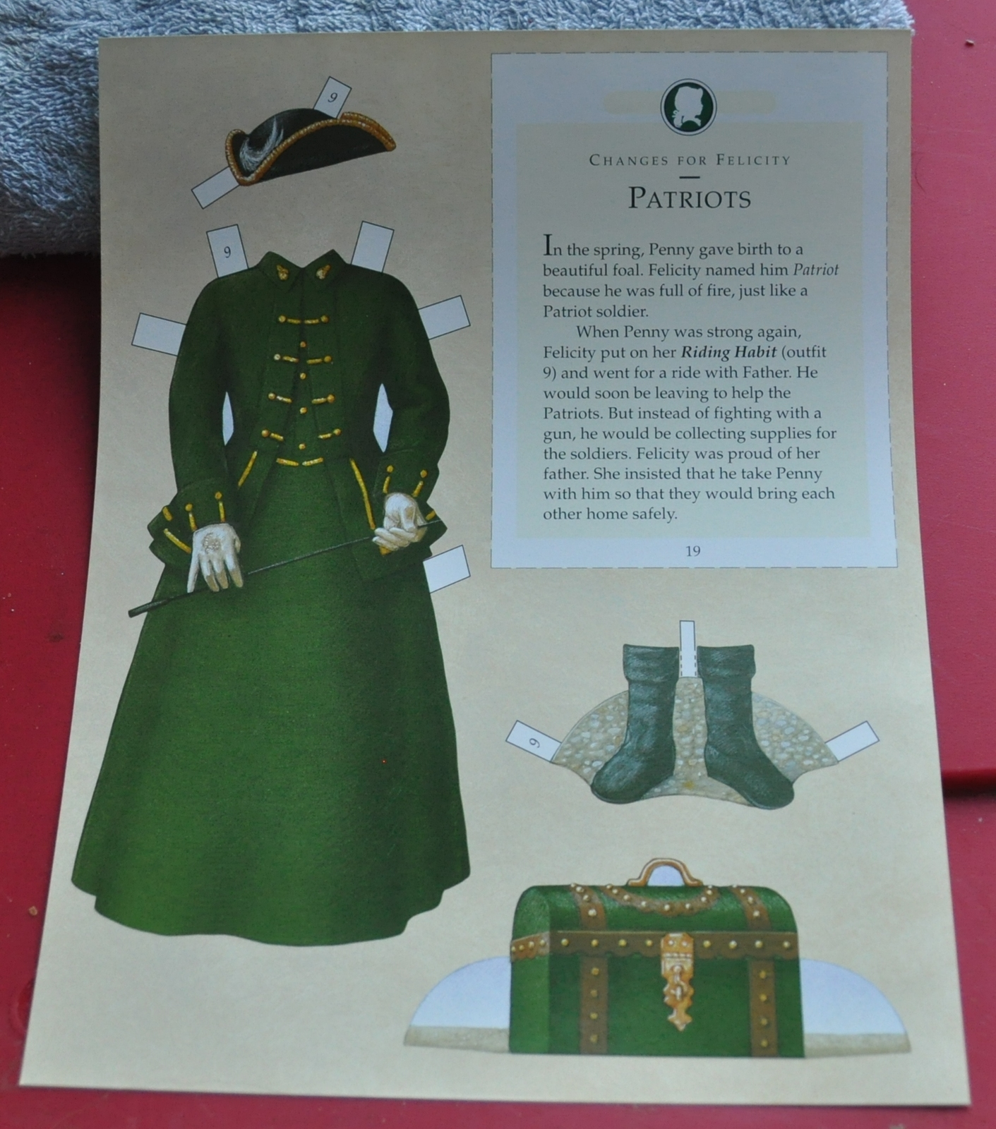 Out of Print  American Girls Collection Felicity Paper Doll w/ Outfits  NEW