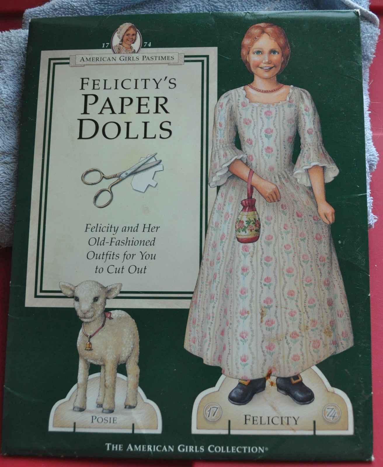 American girls felicity paper dolls   front