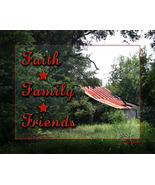 Country House Wall Decor Art Print Faith Family Friends - $12.50