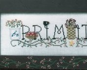 Simply Primitive baskets crocks cross stitch chart Waxing Moon Designs