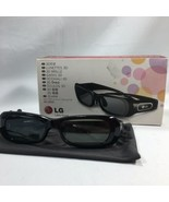 LG 3D Glasses AG-S250 for TV Projector Black Chargable Life's Good Plasm... - $27.69