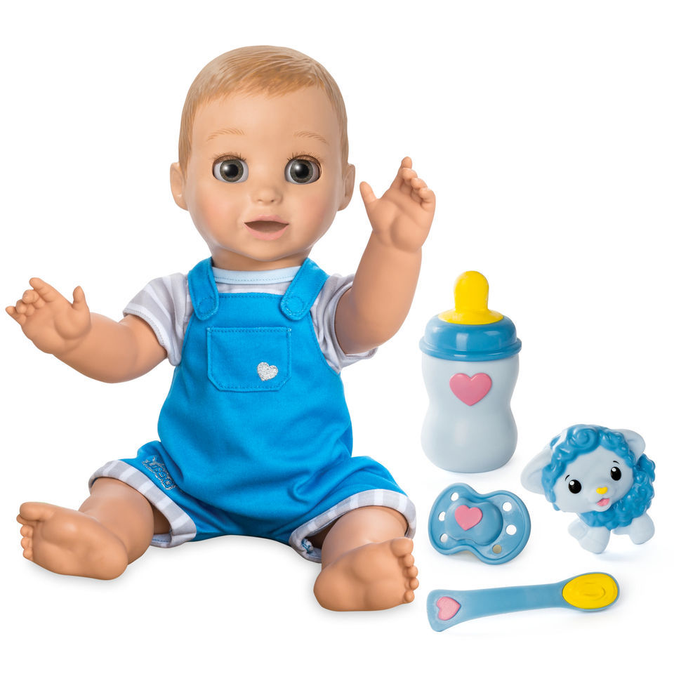 Toys R Us Baby Dolls : Luvabeau responsive baby doll boy blonde hair luva beau