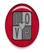 LOVE Brad Red Glass-Digital Download-ClipArt-Ar... - $3.00