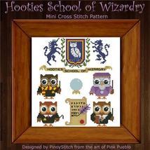 Hooties School Of Wizardry cross stitch chart Pinoy Stitch - $7.20