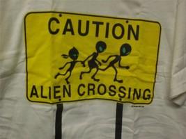 Caution! Alien Crossing LARGE Shirt - $13.00