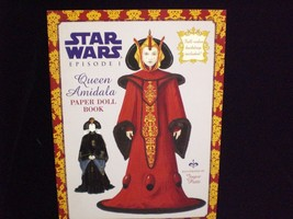 Star Wars Episode 1 Queen Amidala Paper Doll Book with Full Color Backdrop - $12.00