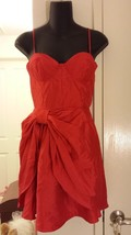NWT 21 Limited Edition Vibrant RED Moulded Bra Dress M 6  - $29.99