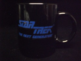 Star Trek Next Generation Coffee Mug Black with Gold Lettering - $18.00