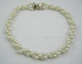 Majorca/mother of Pearl similar culture pearl 8mm white cream knott nack... - $18.50