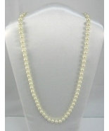 white cream Majorca pearl similar culture pearl 8mm knotted silver/gold ... - $14.99