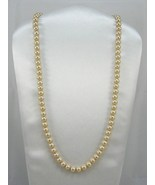 Iridescent Majorca highly similar culture pearl champagne gold 8mm Neckl... - $19.50