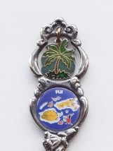 Collector Souvenir Spoon Fiji Palm Tree Charm Fijian Islands Map Emblem - $9.99