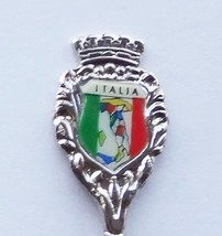 Collector Souvenir Spoon Italy Italia Flag Colors Map - $8.98