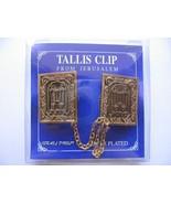 Torah scroll gold plated synagogue bible TALIT CLIPS tallis talis tallit... - £9.79 GBP
