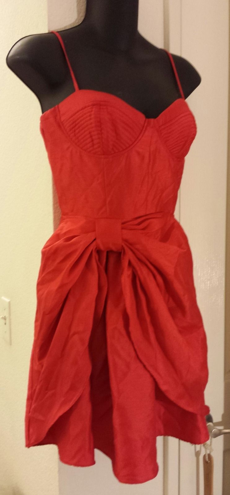 NWT 21 Limited Edition Vibrant RED Moulded Bra Dress M 6