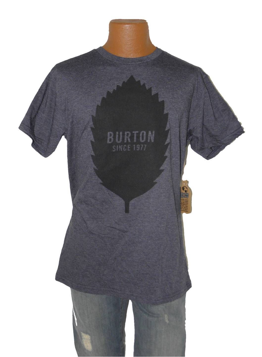 MENS BURTON SNOWBOARD SLIM FIT MOUNTAIN MTN DEW TEE LOGO T SHIRT L LARGE LEAF