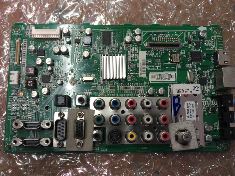 EBR58969202 Tuner AV Main PCB From LG 50PS60-UA LCDTV