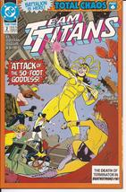 DC Team Titans Lot Issues #2,3,4,8, & 18 Total Chaos Deathwing Mirage Action   - $9.95