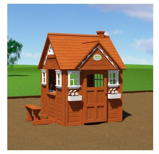 Outdoor Playhouses Toy : Outdoor wooden playhouse kids clubhouse toy backyard play