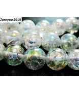Natural Clear AB Crystal Quartz Gemstone Round Beads 15.5'' Strand 8mm 1... - $5.26+