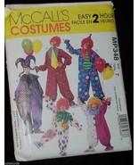 Clown Costumes Jester Child 7 MCCALLS Pattern MP348  - $7.50