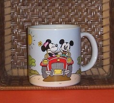 Disney Mickey & Minnie Mouse Traveling in Car Ceramic Coffee Mug Cup - $4.99