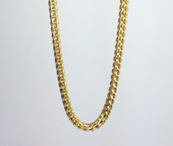"Mens Italian Gold Plated Stainless Steel Franco Chain 30"" - $27.19"