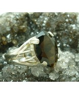 Smoky Quartz Faceted Glass Crystal Marquise Ste... - $39.00