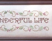 It's A Wonderful Life christmas cross stitch chart Waxing Moon Designs