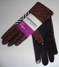 Womens Leopard Print Impressions By Isotoner Touch Screen Gloves New SALE - $5.99