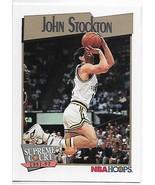 1991-92 Hoops #500 John Stockton NM-MT Jazz SC - $0.99
