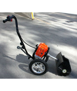 TWO WHEEL PUSH 52CC SNOW SWEEPER DRIVEWAY CLEANER ARTIFICIAL GRASS POWER... - $359.99
