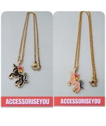 SALE SET OF 2 Stainless steel unicorn necklaceset - $13.00