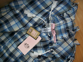 Juicy Couture Scarf Plaid Wilderness Blue $68 - $37.62