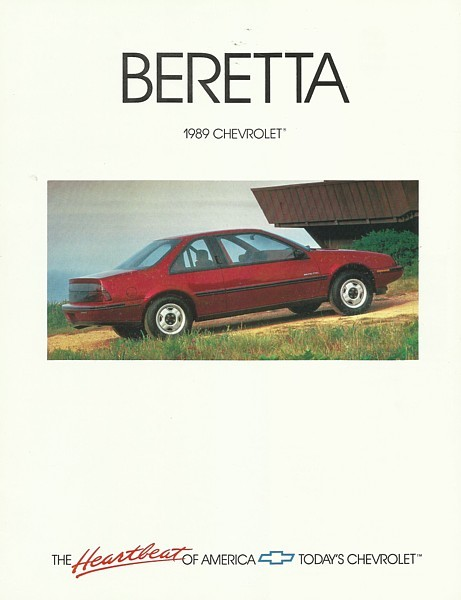 1989 Chevrolet BERETTA sales brochure catalog US 88 Chevy GT GTU