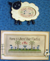Wool and Whimsy sheep cross stitch chart Waxing Moon Designs - $8.00