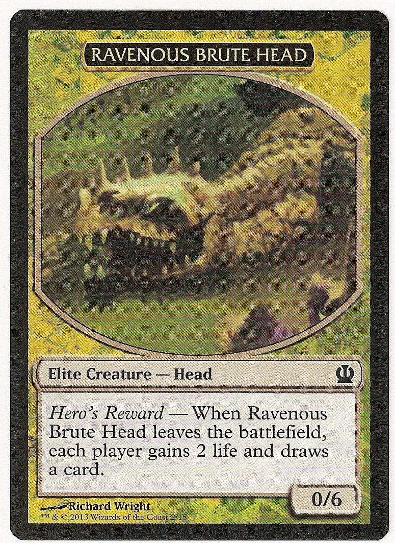 Mtg   ravenous brute head token