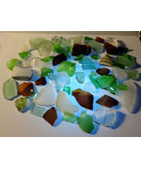 Genuine Surf Tumbled Sea Glass 2 pound Lot mixed colors/sizes/shapes - $20.00