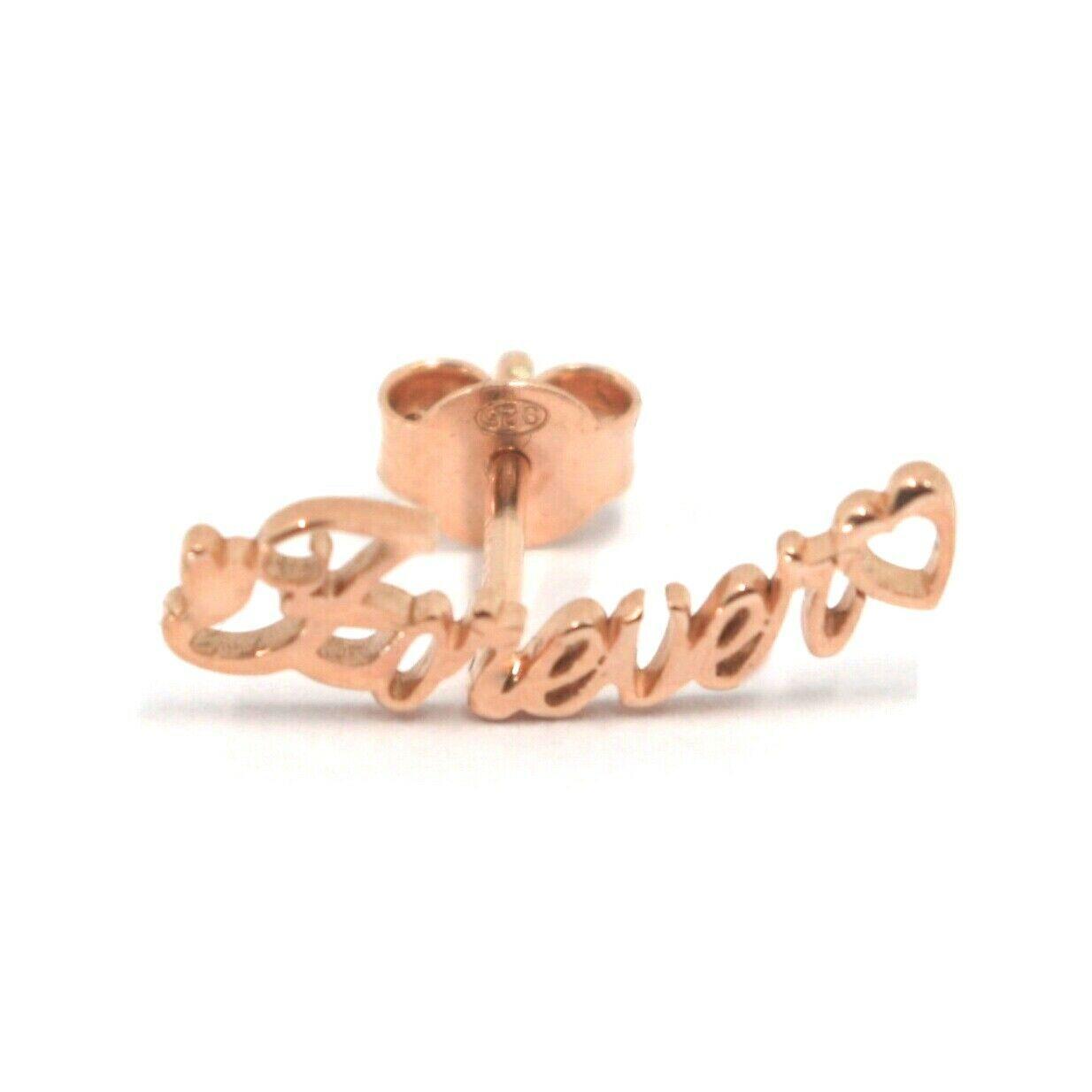 925 STERLING SILVER ROSE EARRINGS, WRITTEN FOREVER, HEART, MADE IN ITALY