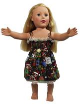 "Clothes American Handmade Blue N Dress 18"" Inch Doll (93CAB123) - $10.99"