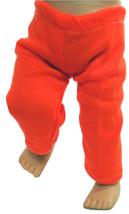 "(I20B35) Clothes American Handmade Neon Orange Pants 18"" Inch Doll  - $9.99"
