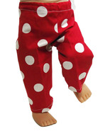 """(I20B35) Clothes American Handmade Red White Poke-A-Dot Pants 18"""" Inch D... - $9.99"""