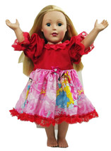 "Clothes American Handmade Red N Dress 18"" Inch ... - $14.99"