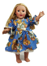 "Clothes American Handmade Blue N Dress 18"" Inch... - $9.89"